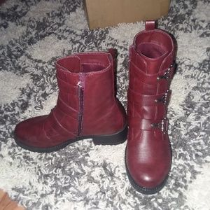 Sonoma Burgundy leather boots